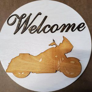 Hand/Custom Made Welcome Sign